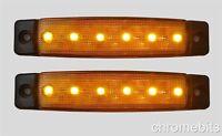 2 x 12V 12 Volt SMD 6 LED ARANCIONE GIALLO AMBRA Luce di indicatore laterale