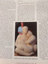 Ephemera 1996 Article Robin Caiger Smith Sandstone Lovers Sculpture Folded M5123