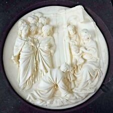Vtg Studio Dante Di Volteradici L'Adorazione Dei Magi Alabaster Plate Santengela