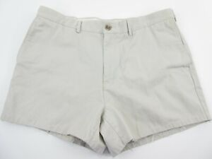 Land's End Traditional Fit Men's 36 Shorts Chino Khaki 4 inch Inseam Beige Stone