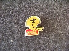 New Orleans Saints football helmet Coca Cola brooch pin coke coca-cola