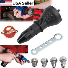 Electric Rivet Nut Gun Cordless Riveting Tool Insert Nut Adaptor Drill Adapter