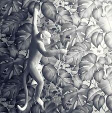 Black and White Monkeys Wallpaper Colibri Jungle Leaves 36625-2