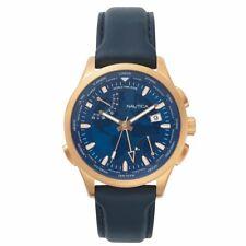 Nautica Herren Uhr Armbanduhr NAPSHG002 Leder