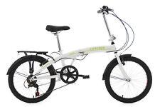 """Faltrad 20"""" Weiss Klapprad 6 Gänge Cityfold Raumwunder RH 27 cm KS Cycling 131C"""