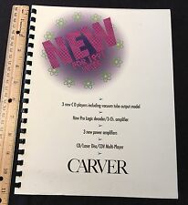 Carver Original Vintage Color Brochure 1991 WCES