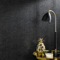 Boutique Crocodile Black Wallpaper