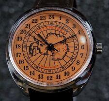 "Russian mechanical watch Raketa "" Ø39mm Antarctic""  24hr. Dark Orange"