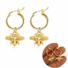 Chic Titanium Steel Gold Bee Women Earrings Stud Party Charm Women Party Gift