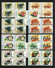Belgisch Congo Belge Rwanda n° 1131/40 bl 4 MNH Animals Animaux Flowers c30.00Eu