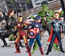 Child Marvel Movie Avengers Iron Man Thor Hulk Captain America Blk Widow Costume