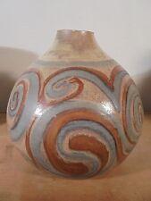 Céramique Vintage 50 Rare Lampe Arabesque Irisé MARIUS BESSONE Vallauris 1/4