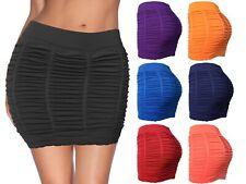 Womens Booty Enchasing Mini Stretch Bodycon Skirt