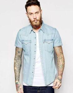 Levi's Denim Shirt Barstow Short Sleeve M