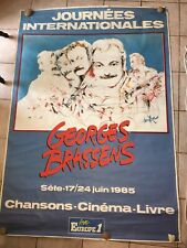 Poster Original Days Internat. 120 X 180 CM Georges Brassens Sète 1985