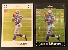 (2) Calvin Johnson2007 Topps Chrome XFractor+ Topps White Border RC