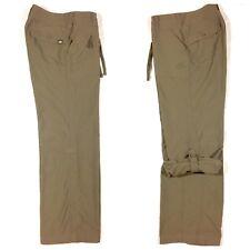 North Face Convertible Pants Womens size 2 Shorts Short Gray Capri Roll Cuff r5