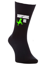 Daddysaurus Rex dino dinosaur pint mens socks father's day stocking filler xmas