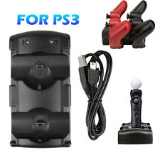 Led Dual Controller Charger Dock Station Stand Charging For Playstation 3 PS3