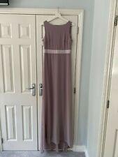 Unworn Grey/Lavender Maxi Bridesmaid Dress (Tall size 12)