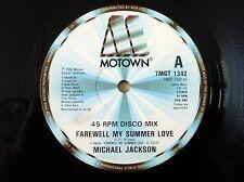 "Michael Jackson Farewell My Summer Love UK 12"" Motown TMGT 1342 1984 VG"
