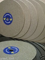 "8"" inch Grit 80 Diamond coated Flat Lap wheel Lapidary grinding polishing disc"