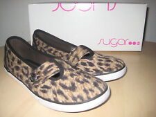 4f98b03d4bc84 Sugar Shoes Size 8.5 M New Womens Kasper Cheetah Loafers EUR 39 UK 6