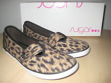 Sugar Shoes Size 8.5 M New Womens Kasper Cheetah Loafers EUR 39 UK 6