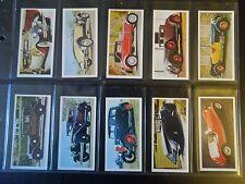 1976 Carreras VINTAGE CARS- Black Cat complete set 50 Tobacco Cigarette cards