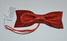 BATH & BODY WORKS RED GLITTER BOW ON STRING GIFT TAG WRAP SHINY SPARKLY NEW