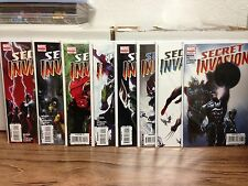 Secret Invasion 1 2 3 4 5 6 7 8 + Variants + Captain Marvel 1-5 Nice Lot