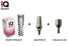 3 Smart IQ Dental limplants + Abutments + Healing Caps Implant Surgery Tools Lab