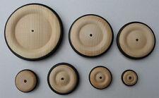 4 Stück Holzräder, Holzrad mit Gummireifen 23 mm #3323