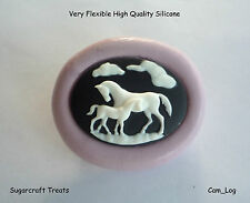 Horse Pony Animal Silicone Mould, Sugarcraft, Cup Cake Topper, Fimo, Chocolate