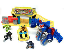 Transformers Robot Heroes Squad Toys  GARAGE PLAYSET with Figures & Car