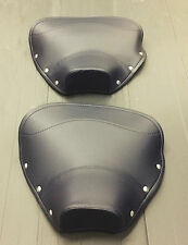 Single seat / saddle cover (pair) - front & rear navy for Lambretta