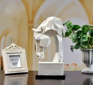 Horse Head Sculpture Resin Statue Modern Abstract Ornament Home Decor Figurine