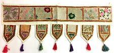 "Indien Door Decoration Toran Window Valance Handmade Tapestry White 40"" x 14"""