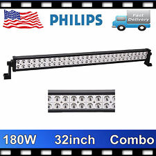 Philips 32inch 180W LED Driving Work Light Spot Flood Lamp Truck Fog 4WD 12V24V