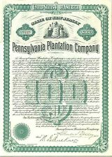 Pennsylvania Plantation Company > 1903 New Jersey old stock certificate share
