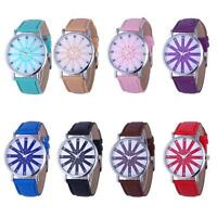 Geneva Women's Fashion Watch Leather Analog Stainless Steel Quartz Wrist Watches