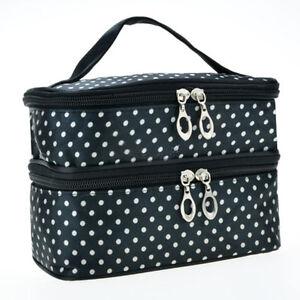 Womens Girls Cosmetic Toiletry Make Up Bags Travel Storage Box Bag Organiser US