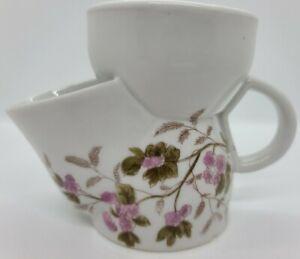 Antique Victorian Hand Painted Floral Porcelain Ceramic Shaving Mug Germany