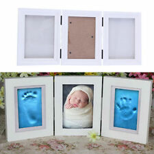 Photo Frame Newly Born Baby Foot/Hand Print Cast Set Christening Gift GL