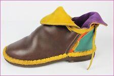 Chaussures GIGONDAS FYLOU Arlequin Cuir Ocre Marron Vert Orange T 37 TBE