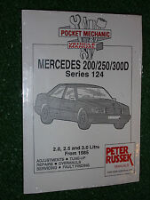 MERCEDES BENZ 124 SERIES 200D 250D 300D DIESEL WORKSHOP MANUAL 1985-1993