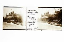 Alexandrie Egypte Le Paquebot Mariette Pacha Plaque de verre positive 1929