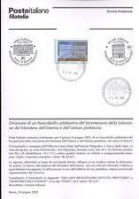 ITALIA 2002 MINISTERO DELL'INTERNO  BOLLETTINO COMPLETO DI FRANCOBOLLI FDC