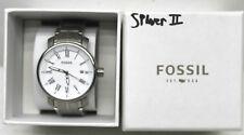 Fossil BQ1012 Men's Rhett Roman Numeral Date Silver-tone Stainless Steel Watch