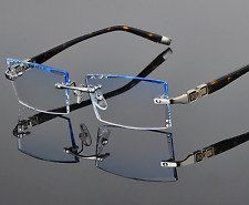 Luxury Eyeglass Frames Rimless Eyewear Diamond Cutting lens Glasses Custom-made